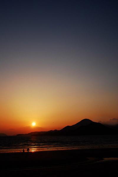 a peaceful sunset