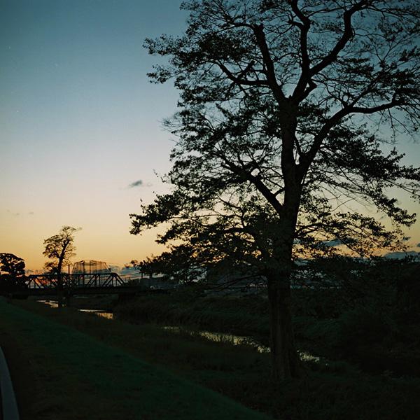 夕陽をおいかけたけど。